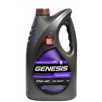 Лукойл Genesis Advanced 10w-40 4 литра