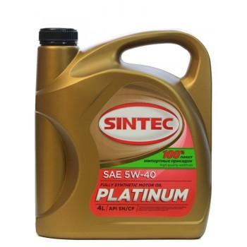 Sintec PLATINUM 5w-40  SN-CF 4 литра