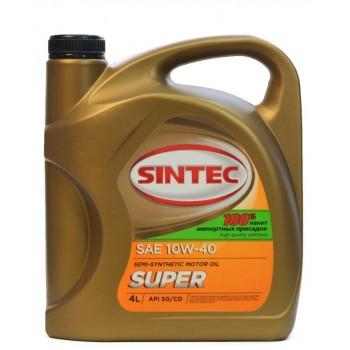 Sintec SUPER 10w-40  SG-CD 4 литра