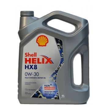 Shell Helix HX8 0w-30 4 литра