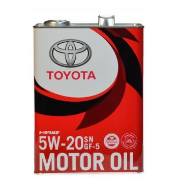 Toyota 5w-20 SN GF-5 4 литра жесть