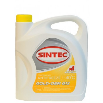 Антифриз Sintec GOLD-OEM G12 5 kg