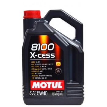 Motul 8100 X-cess 5w-40 4 литра